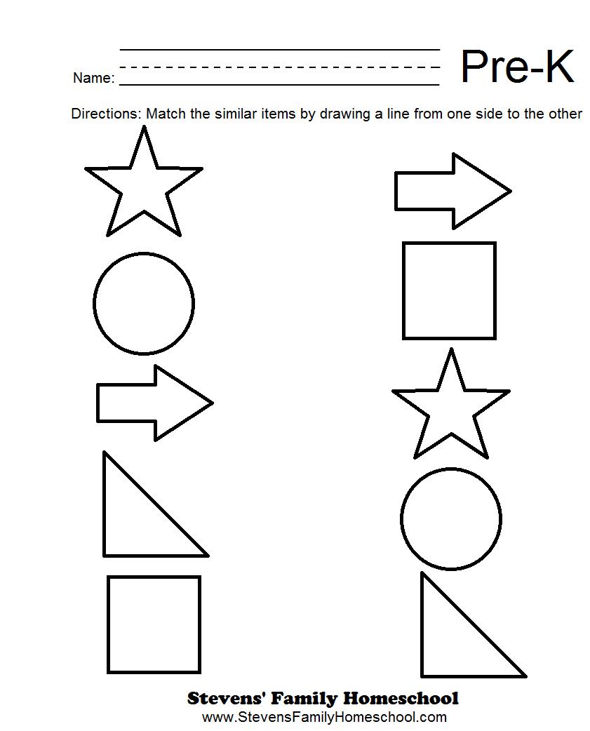 Pre-K Matching Worksheets | Pre K Math Worksheets, Free within Alphabet Math Worksheets Preschool