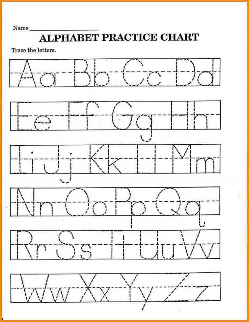 Pre K Math Worksheets Printable | Alphabet Tracing Inside Alphabet Learning Worksheets