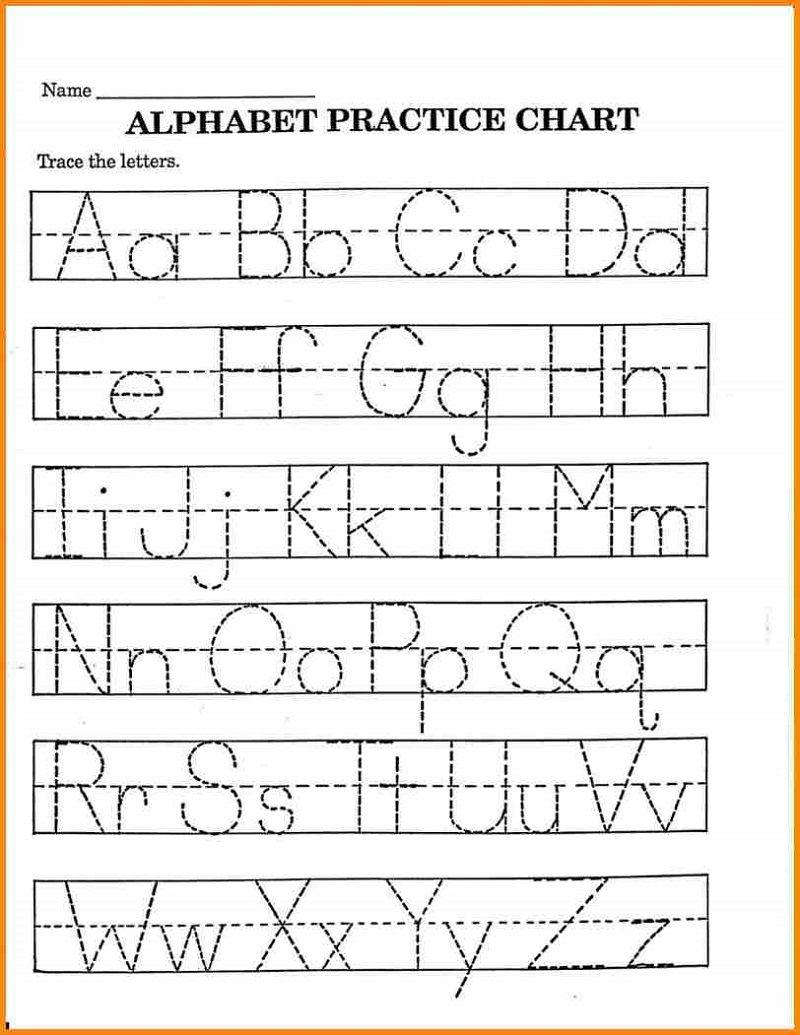 Pre K Math Worksheets Printable   Alphabet Tracing intended for Pre K Alphabet Worksheets Free