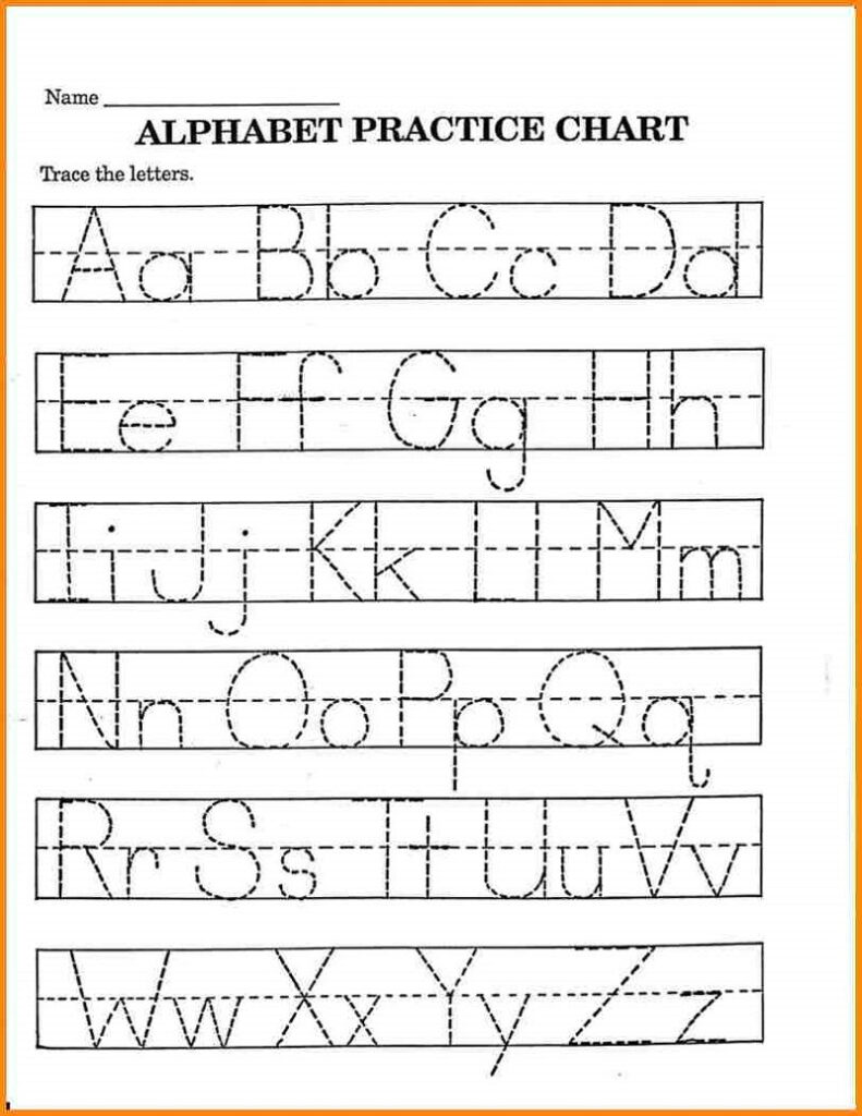 Pre K Math Worksheets Printable | Alphabet Tracing With Pre K Alphabet Worksheets Printable