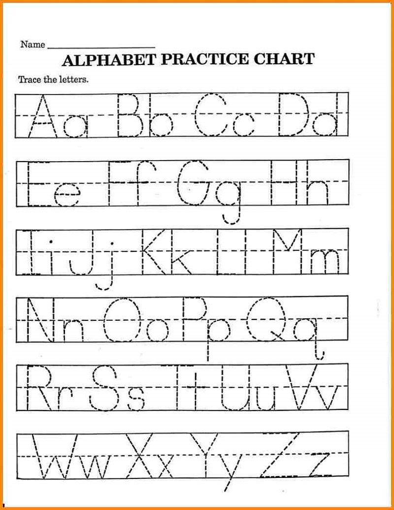 Pre K Math Worksheets Printable | Alphabet Tracing with Pre-K Alphabet Worksheets Printable