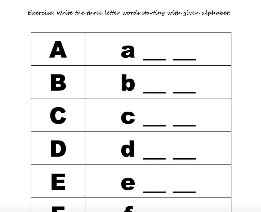 Pre K Spelling Worksheets Free Alphabet | Chesterudell Inside Alphabet Spelling Worksheets