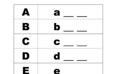 Alphabet Spelling Worksheets