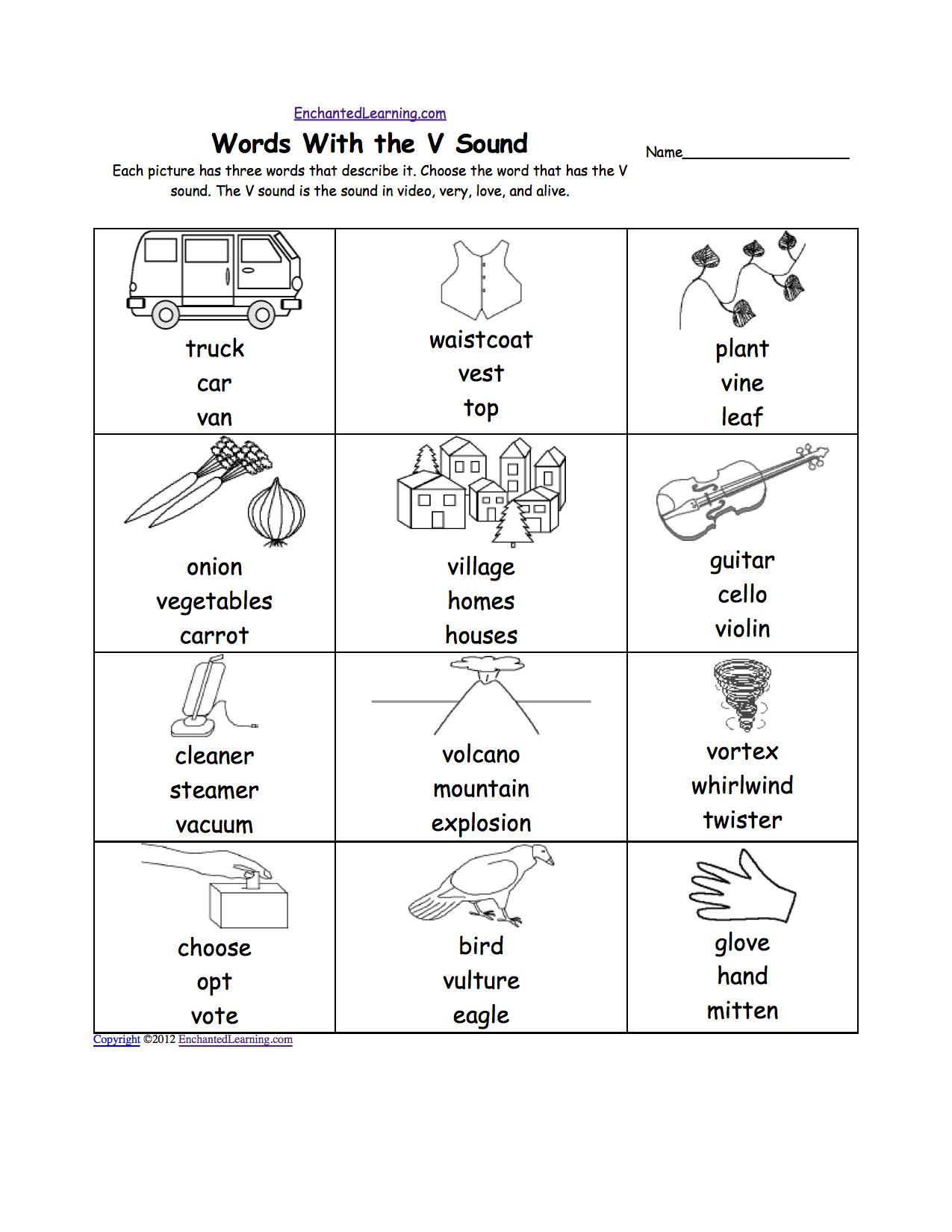 Pre K Worksheets | Letter V Alphabet Activities At for Letter V Worksheets Printable