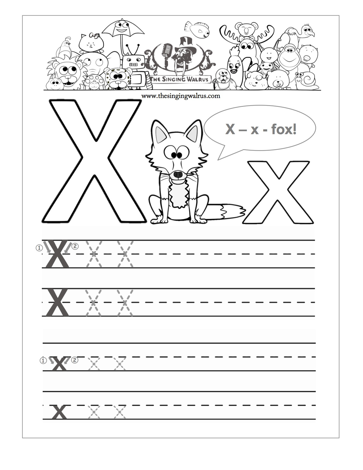 Preschool Reading Writing Worksheets Trace And Write The with regard to Letter X Worksheets