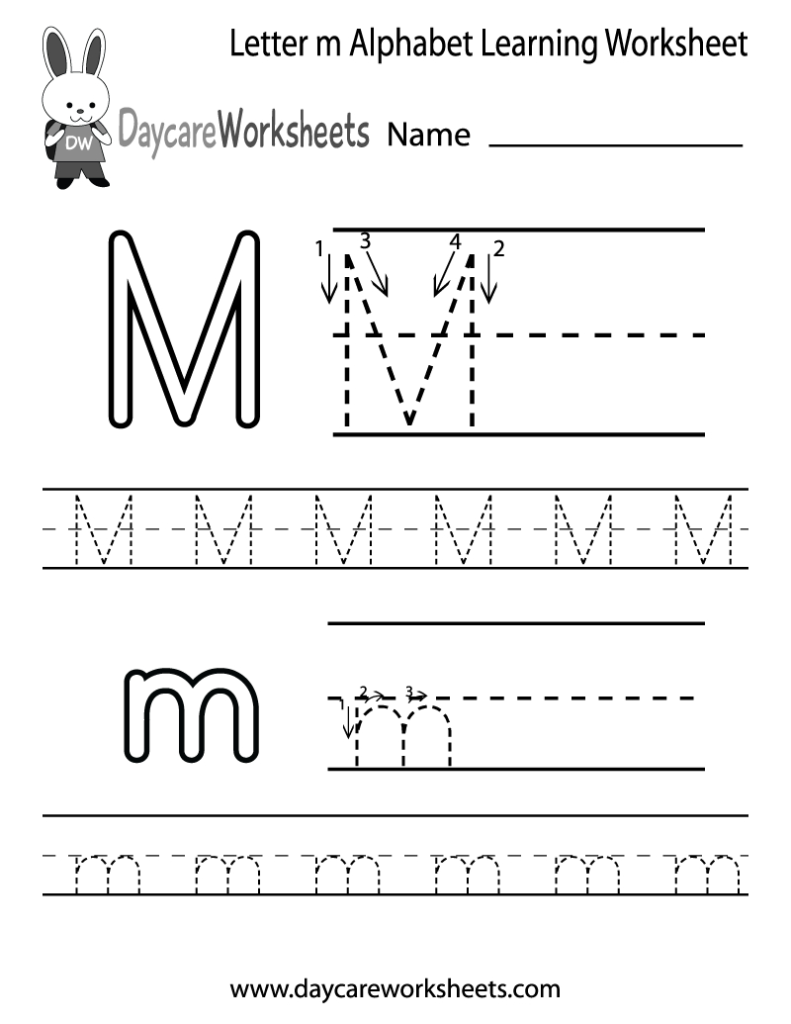 Preschoolers Can Color In The Letter M And Then Trace It For M Letter Worksheets Preschool