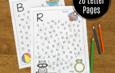 Alphabet Search Worksheets