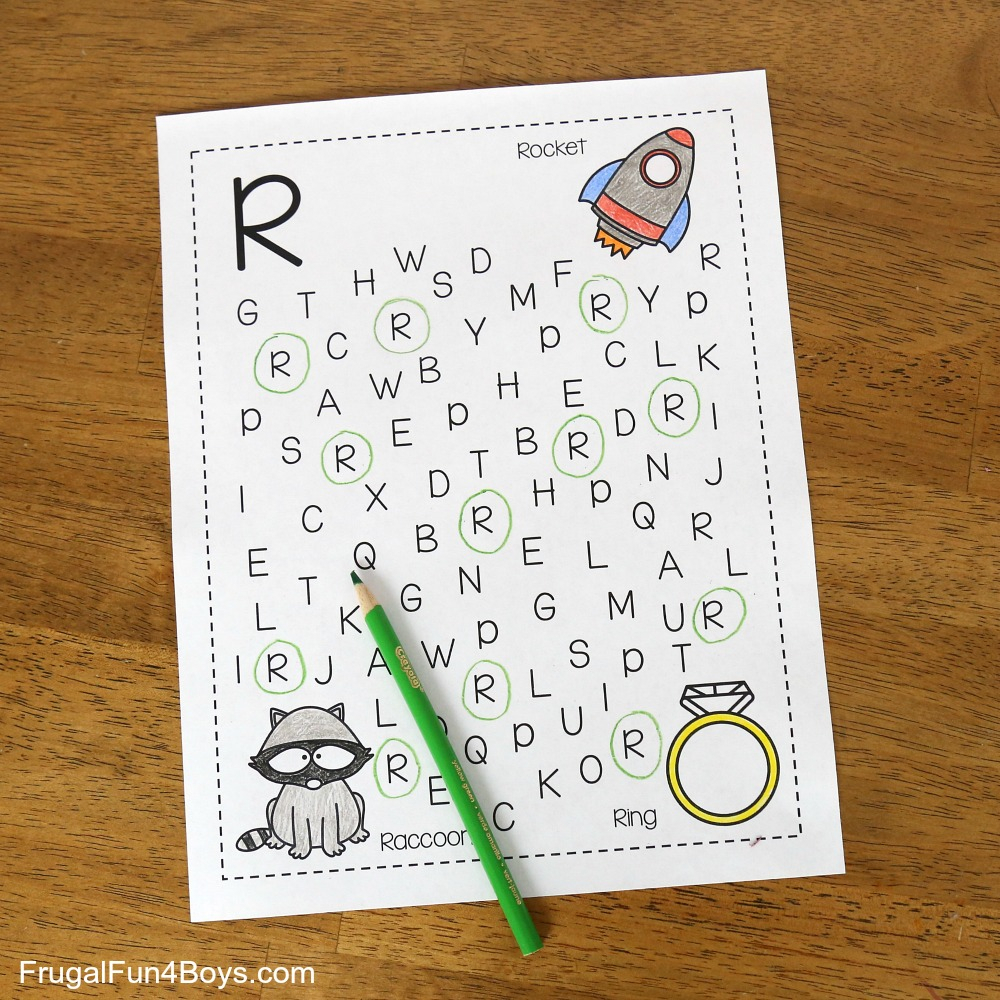 Printable Alphabet Letter Search And Find Pages - Frugal Fun with Alphabet Search Worksheets