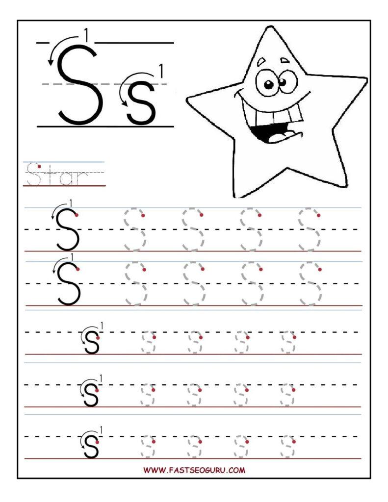 Printable Cursive Alphabet Worksheets Abitlikethis In Letter S Worksheets For Toddlers