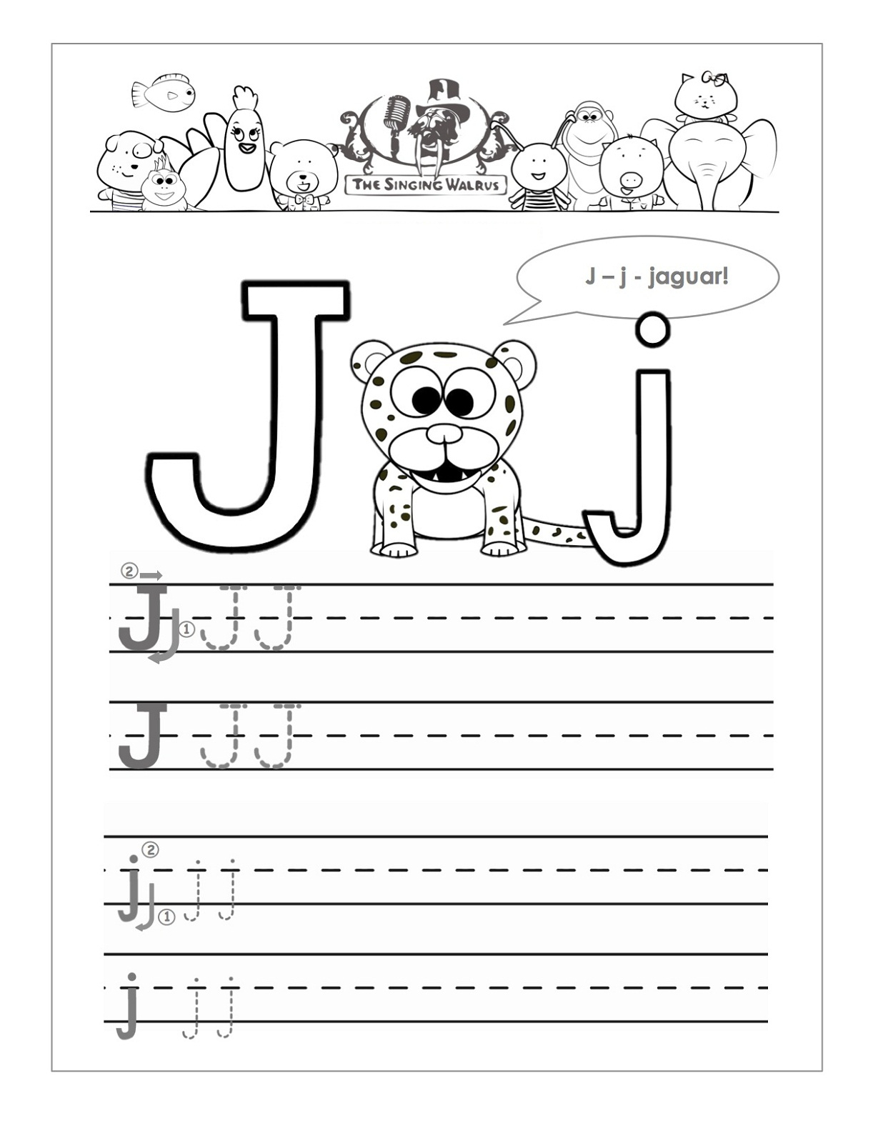Printable Letter J Worksheets For Kindergarten | Loving for Letter J Worksheets Easy