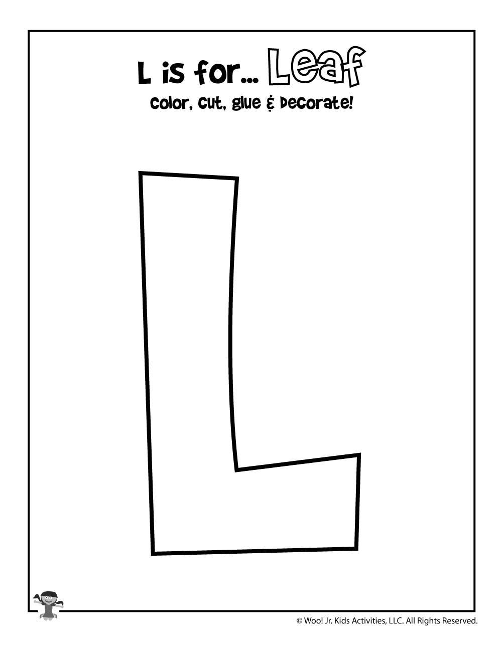 Printable Letter L Craft   Woo! Jr. Kids Activities intended for Letter L Worksheets Printable
