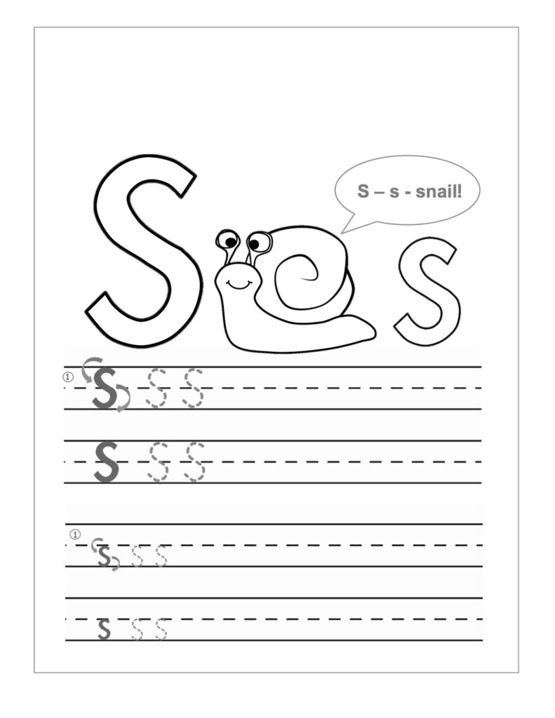 Printable Letter S Worksheets | Printable Shelter Regarding Letter S Worksheets Printable