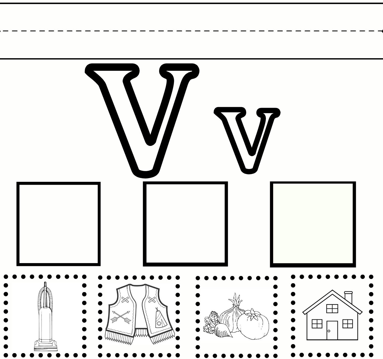 Printable | Sweet Benanna&sam intended for Letter V Worksheets Printable