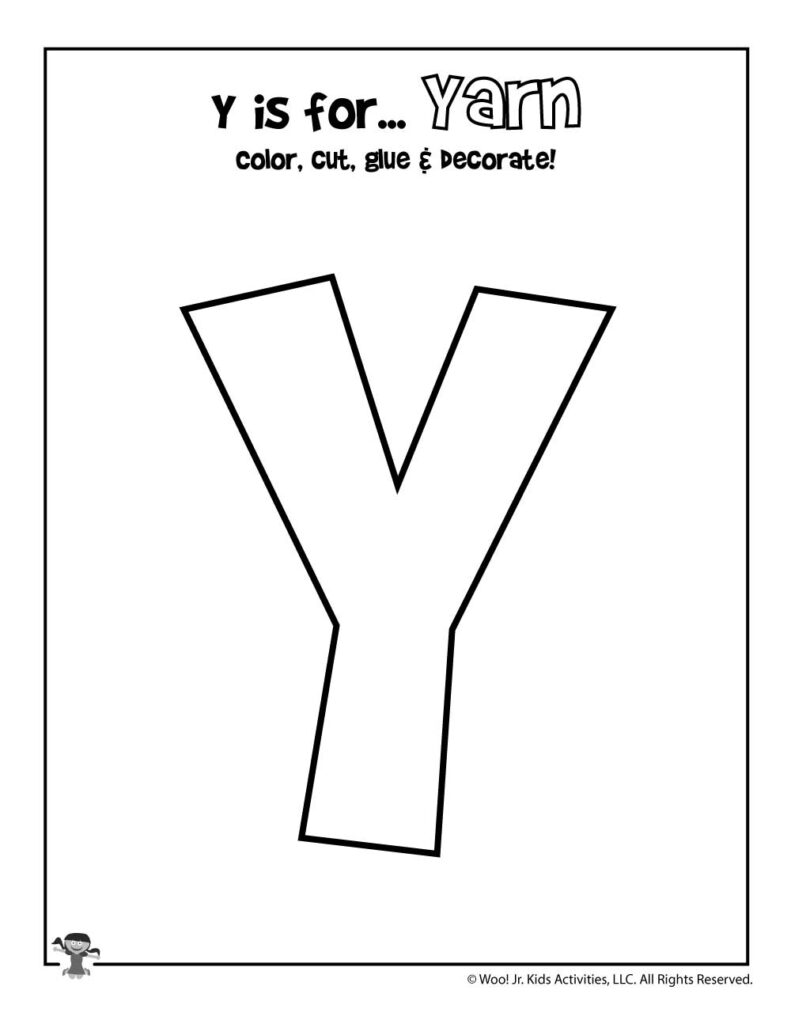 Resource Printable Letter Y | Brad Website For Letter Y Worksheets Easy Peasy