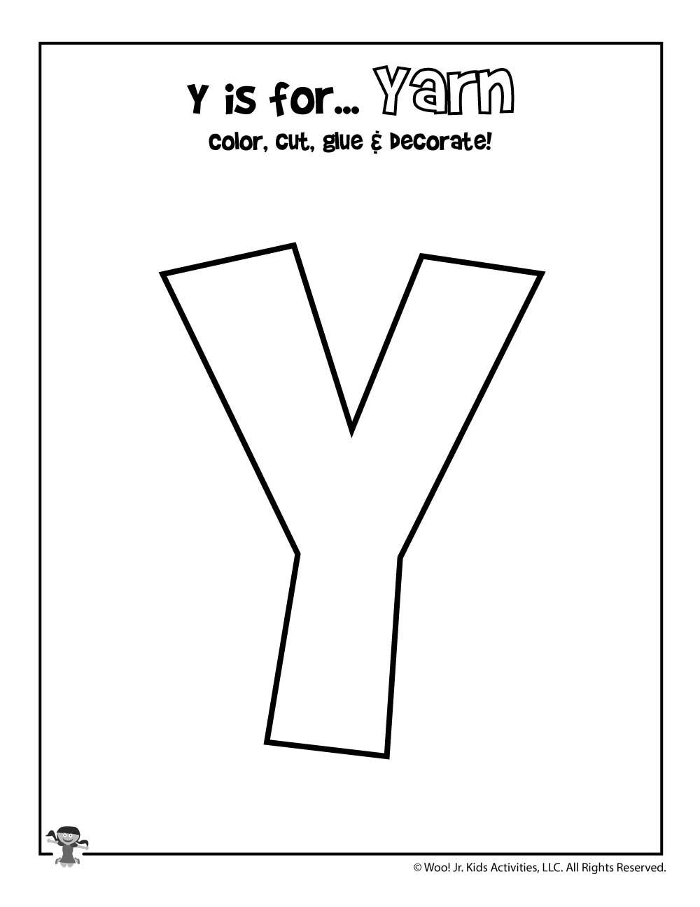 Resource Printable Letter Y   Brad Website for Letter Y Worksheets Easy Peasy
