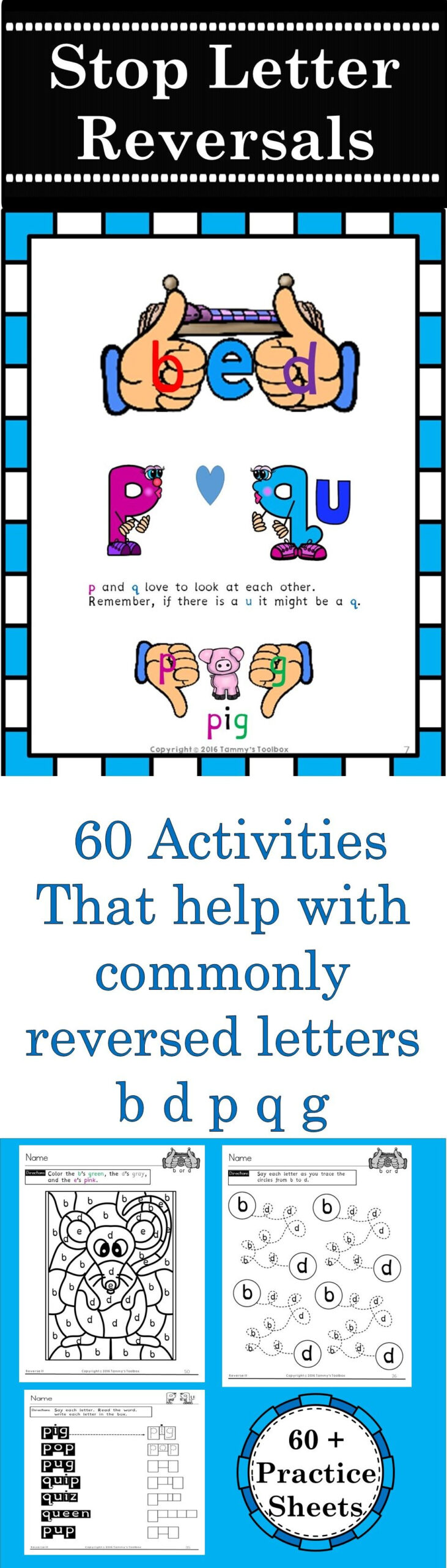 Reverse It - Over 60 Printable Activities To Help Students inside Alphabet Worksheets For Dyslexia