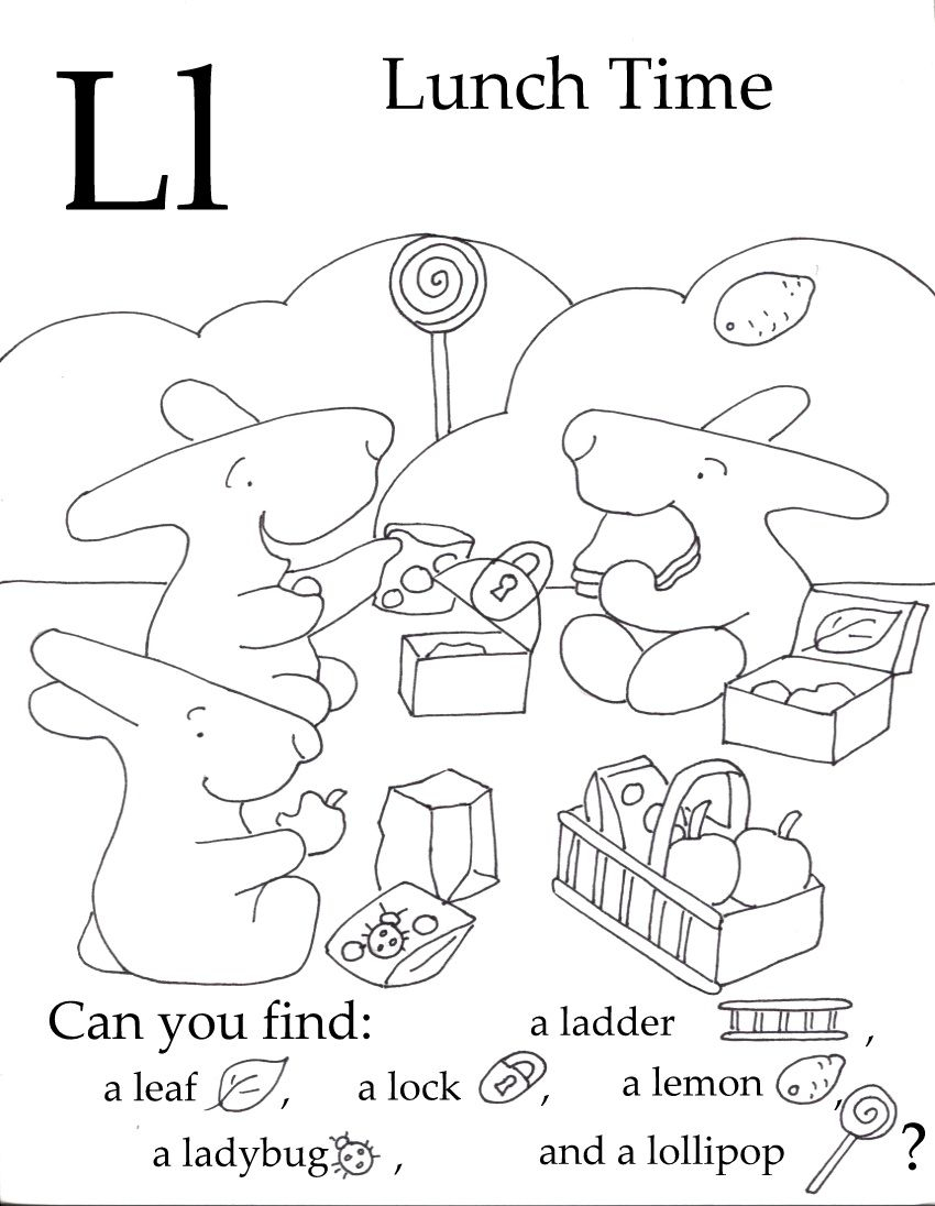Seek And Finds | Free Preschool, Preschool Classroom with Letter Ll Worksheets