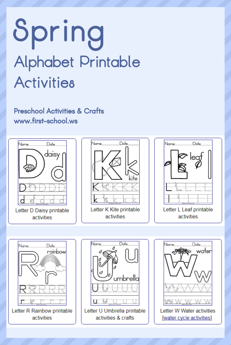 Spring Alphabet Theme Printable Activities: Poster, Coloring for Alphabet Worksheets Sparklebox