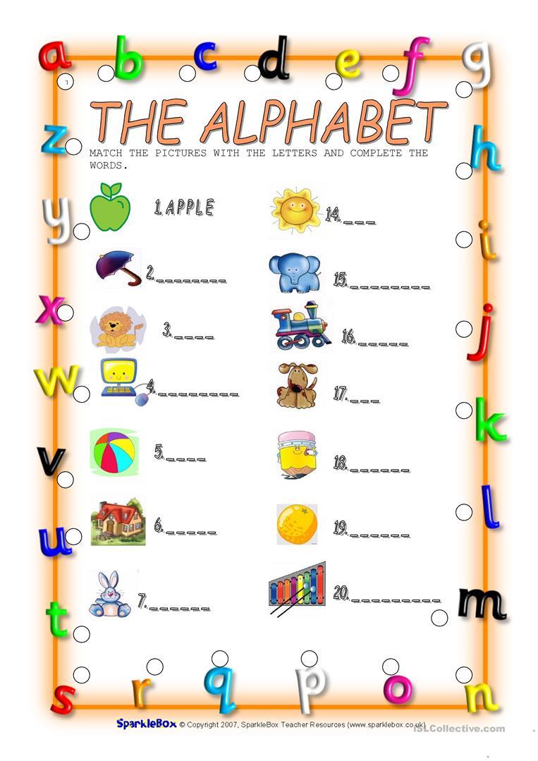 The Alphabet - English Esl Worksheets with regard to Letter W Worksheets Sparklebox