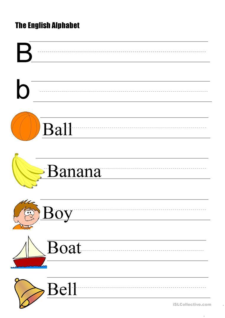 The Alphabet - Letter B - English Esl Worksheets regarding Letter B Alphabet Worksheets
