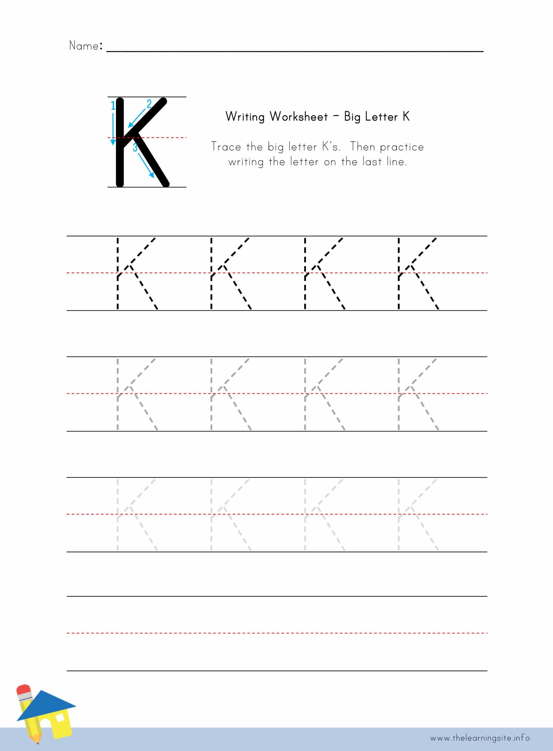The Learning Site regarding Letter K Worksheets Pdf