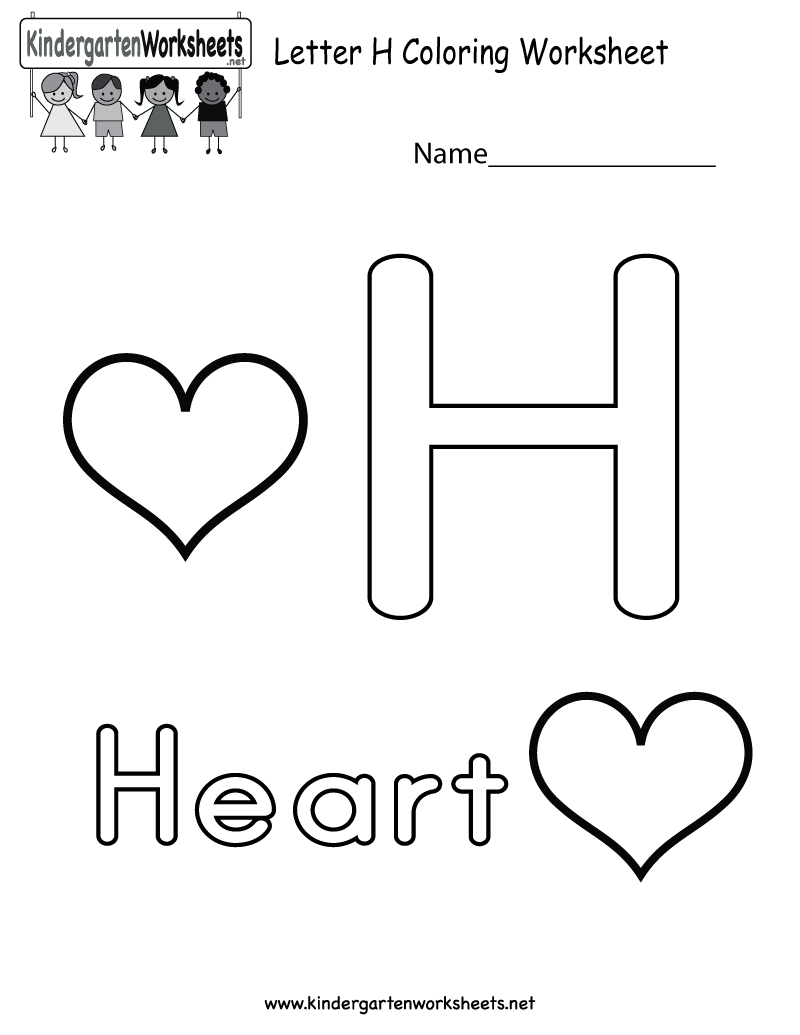 This Is A Cute Letter H Coloring Worksheet. This Would Be A with regard to Letter H Worksheets For Toddlers