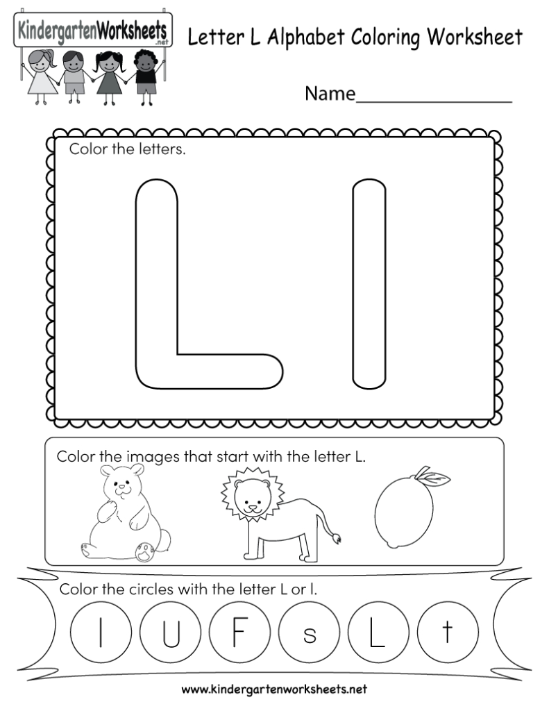 This Is A Cute Letter L Worksheet For Kindergarteners. Kids For Letter L Worksheets For Pre K