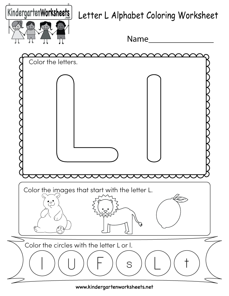 This Is A Cute Letter L Worksheet For Kindergarteners. Kids inside Letter L Worksheets For First Grade