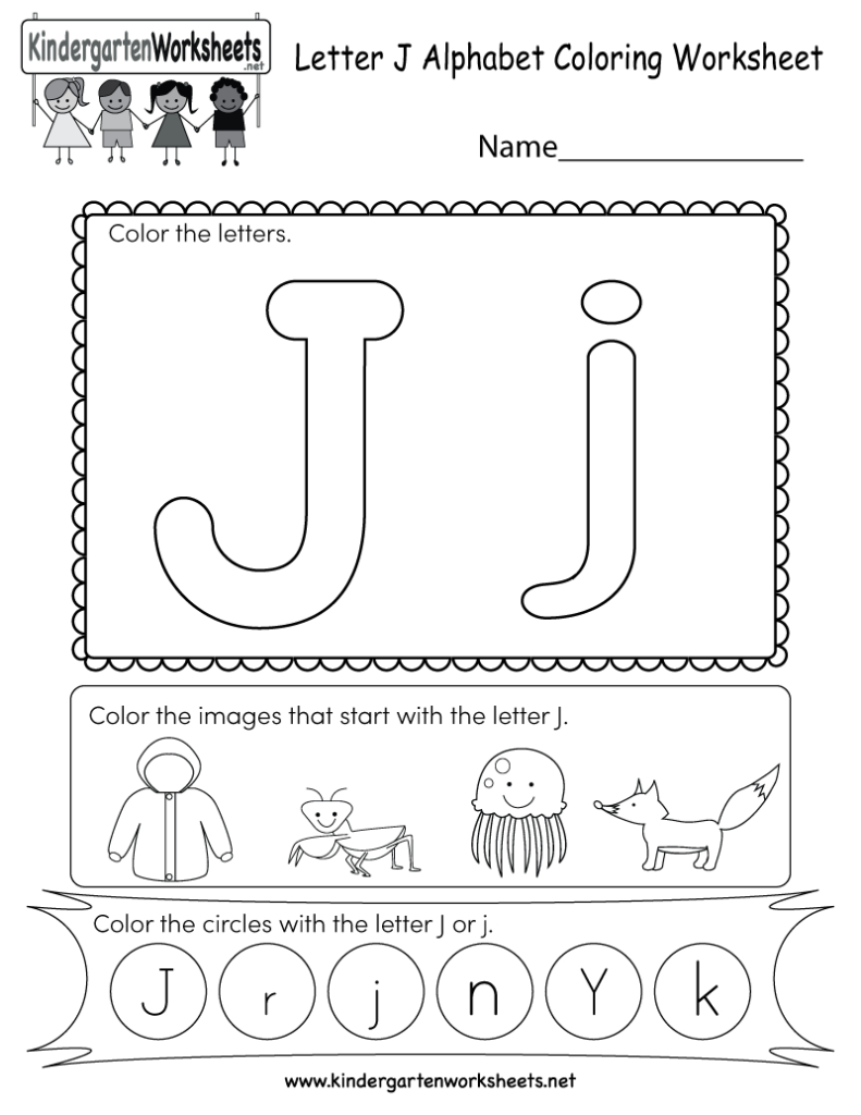 This Is A Fun Letter J Coloring Worksheet. Kids Can Color Within Alphabet J Worksheets