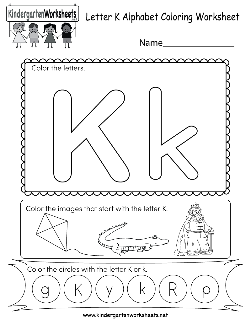 This Is A Fun Letter K Coloring Worksheet. Kids Can Color for Letter K Worksheets For Kinder