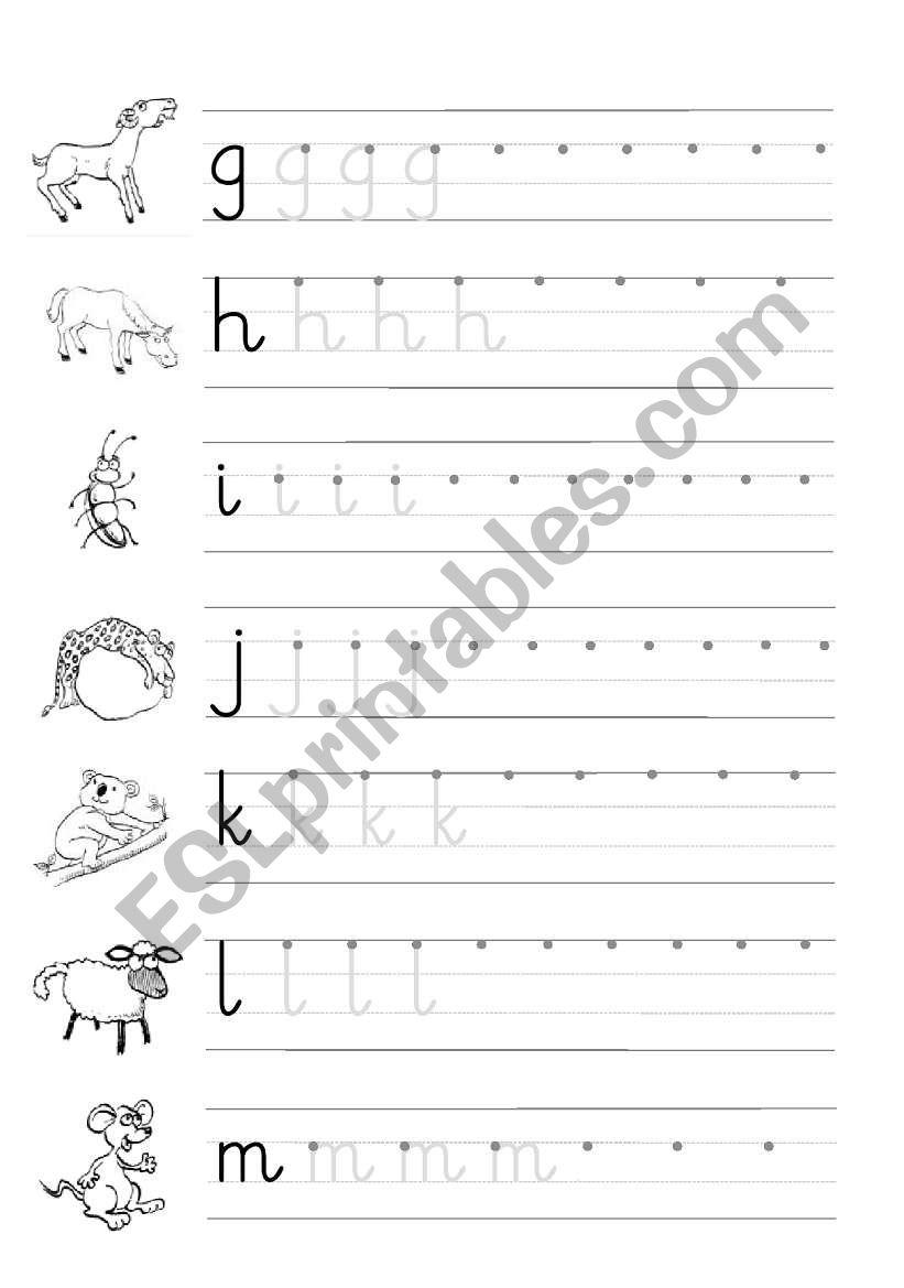 Trace And Copy - Esl Worksheethamadaasemsem throughout Alphabet Copy Worksheets