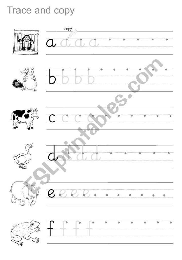 Trace And Copy   Esl Worksheethamadaasemsem With Regard To Alphabet Copy Worksheets