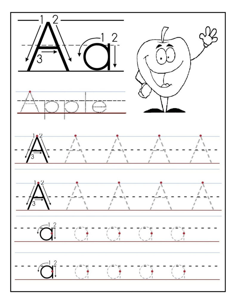 Trace Letter A Sheets To Print | Printable Preschool Pertaining To Alphabet Worksheets For Preschoolers Printable