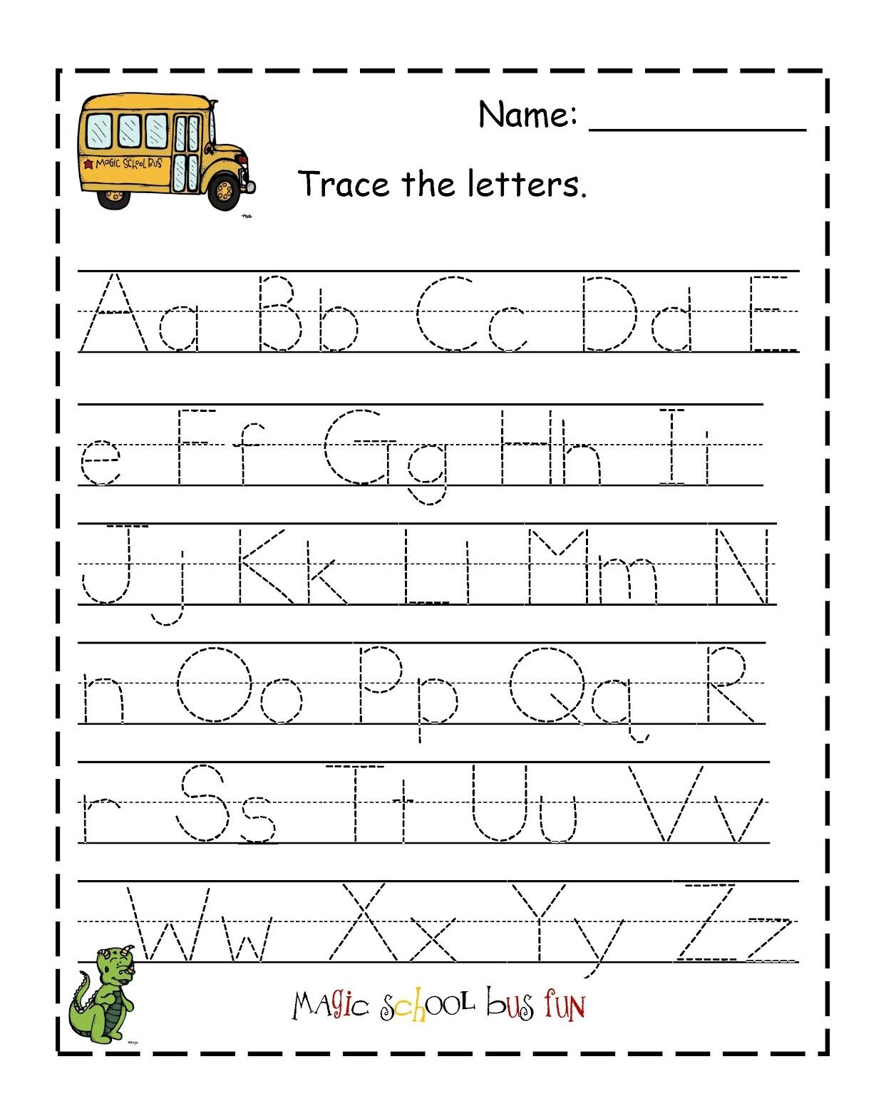 Traceable Letter Worksheets To Print | Alphabet A with Alphabet Worksheets Print