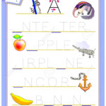 Tracing Letter A For Study English Alphabet. Worksheet For Kids For Alphabet Worksheets English