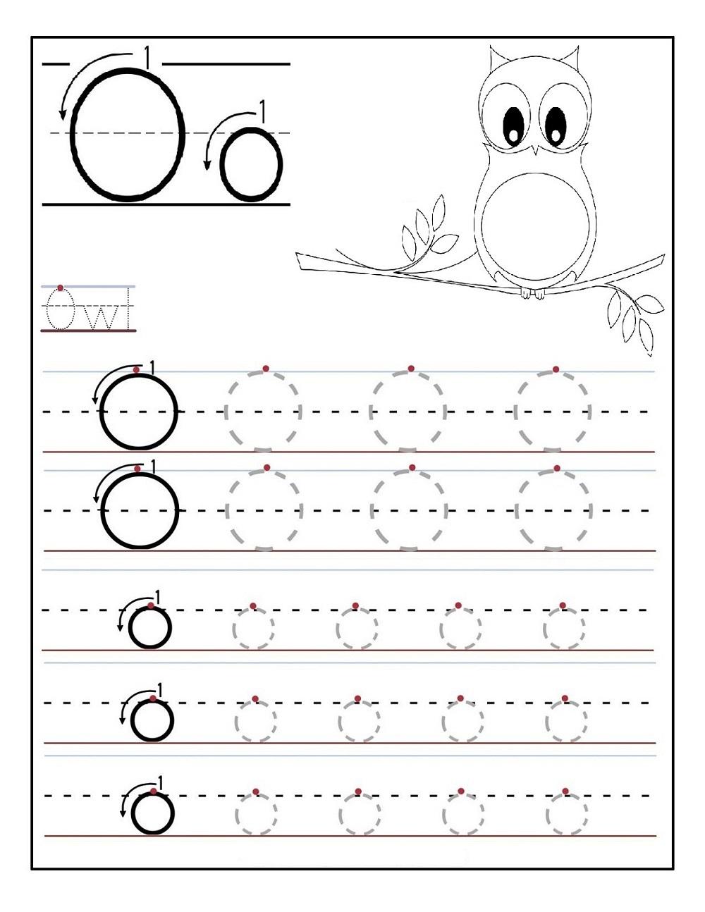 Tracing Letter O Worksheets | Activity Shelter inside Letter O Worksheets For Kindergarten