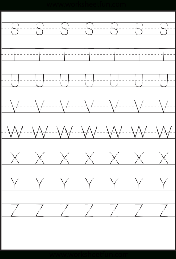 Tracing – Uppercase Letters – Capital Letters – 3 Worksheets Inside Alphabet Worksheets Capital