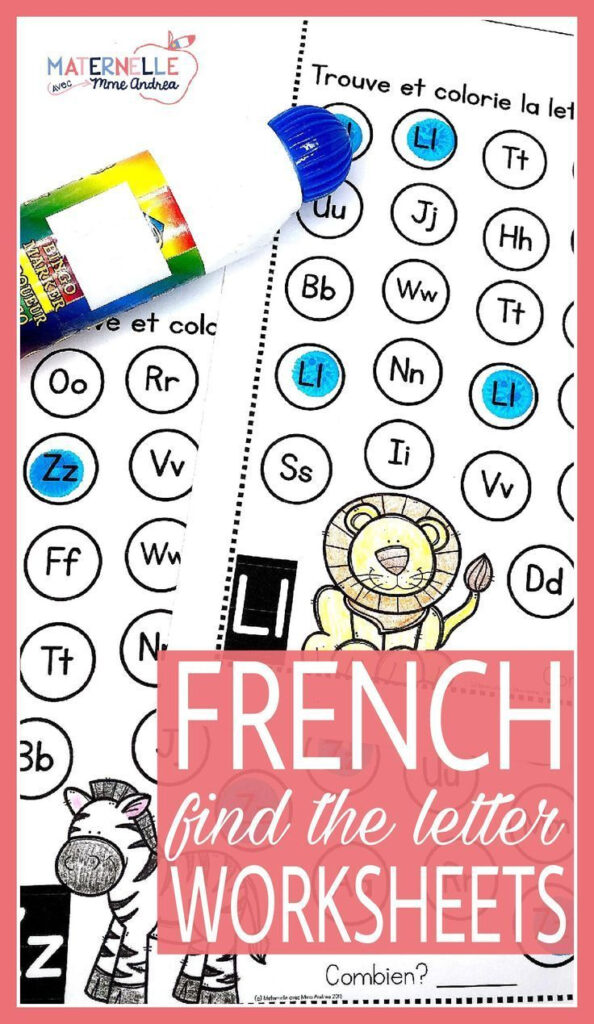 Trouve Et Colorie   Les Lettres De L'alphabet (French In French Alphabet Worksheets Grade 1