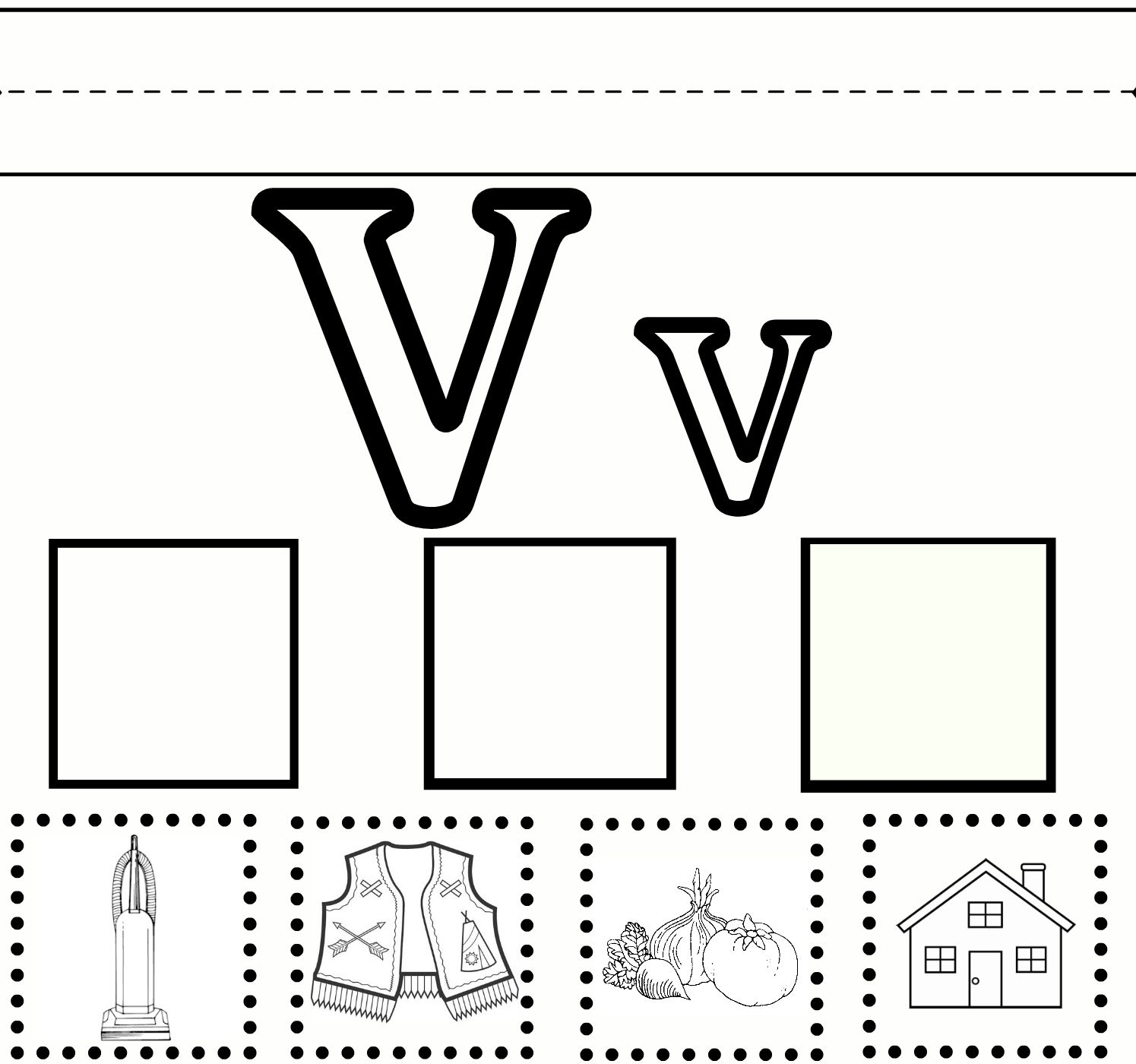 V Practice | Preschool Worksheets, Letter V Worksheets for Letter V Worksheets Pre K