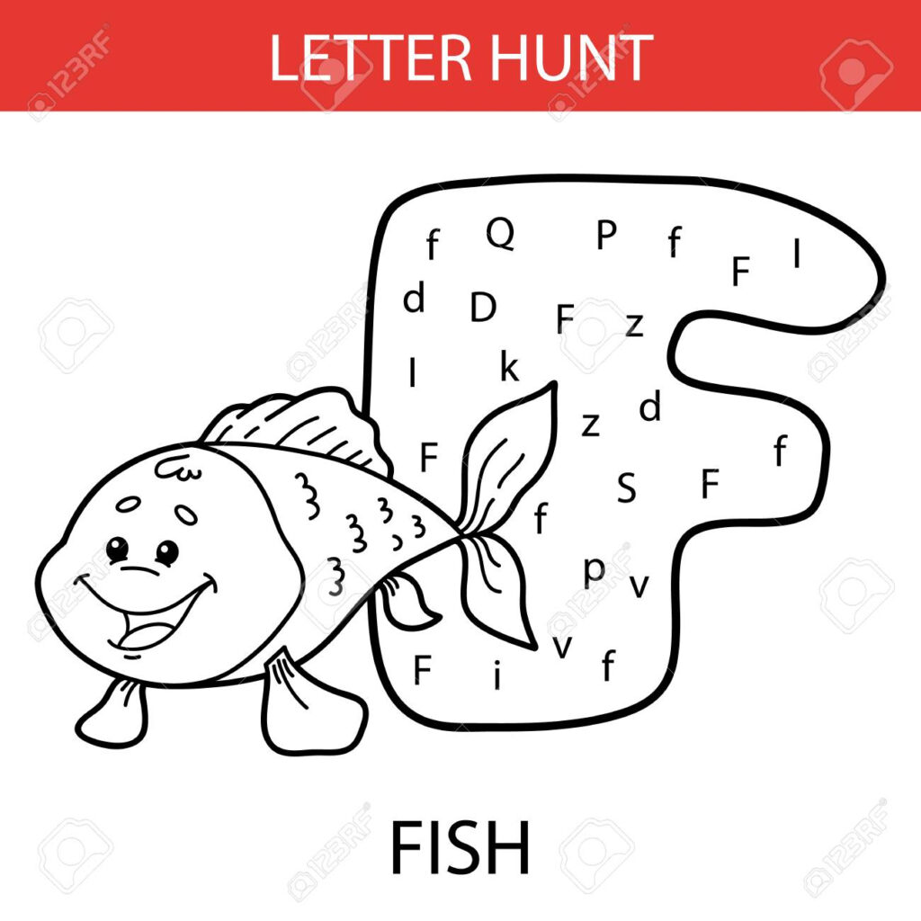Vector Illustration Of Printable Kids Alphabet Worksheets Educational.. With Alphabet Worksheets With Pictures