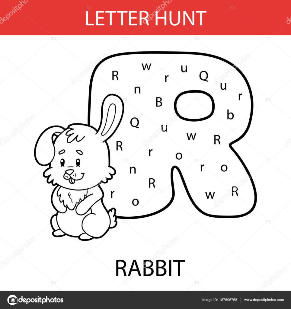 Vector Illustration Printable Kids Alphabet Worksheets Intended For Alphabet Hunt Worksheets