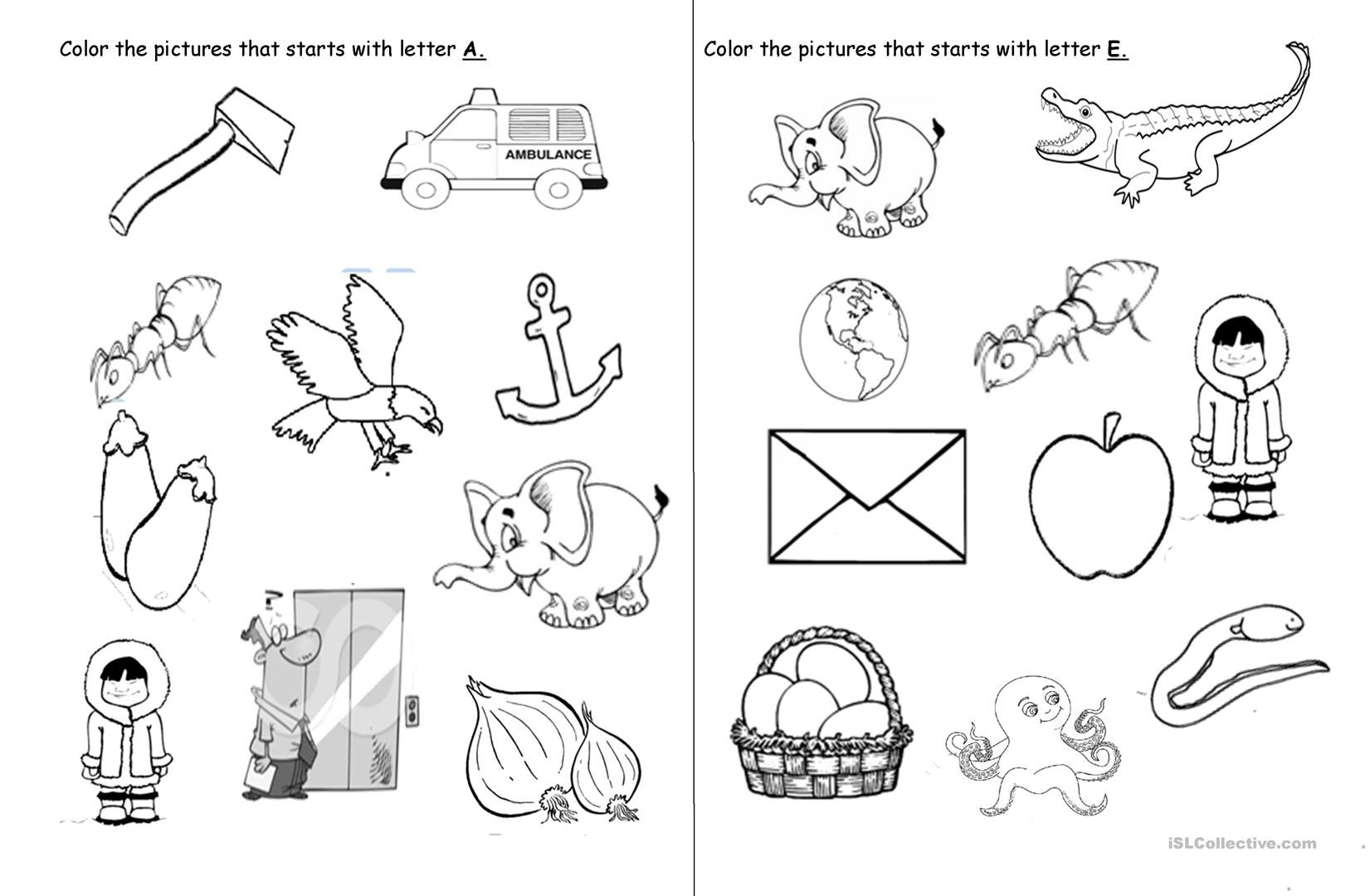 Vowel Letters - English Esl Worksheets intended for Vowel Alphabet Worksheets