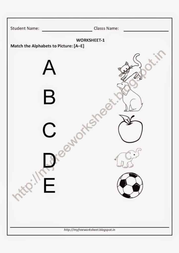 Worksheet Free English Worksheets For Kindergarten Printable Inside Alphabet Copy Worksheets