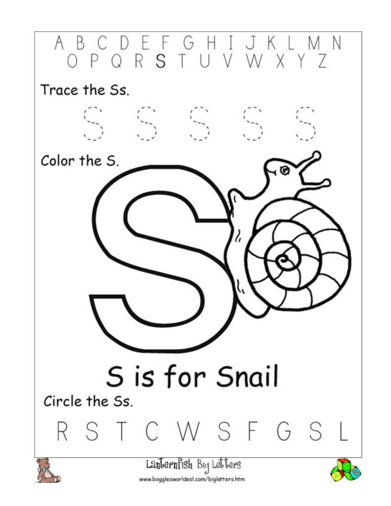 Worksheet Of Junior Kg | Printable Worksheets And Activities Throughout Letter S Worksheets For Kindergarten