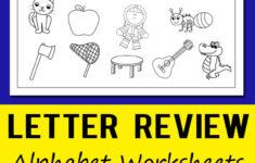 Alphabet Of Worksheets