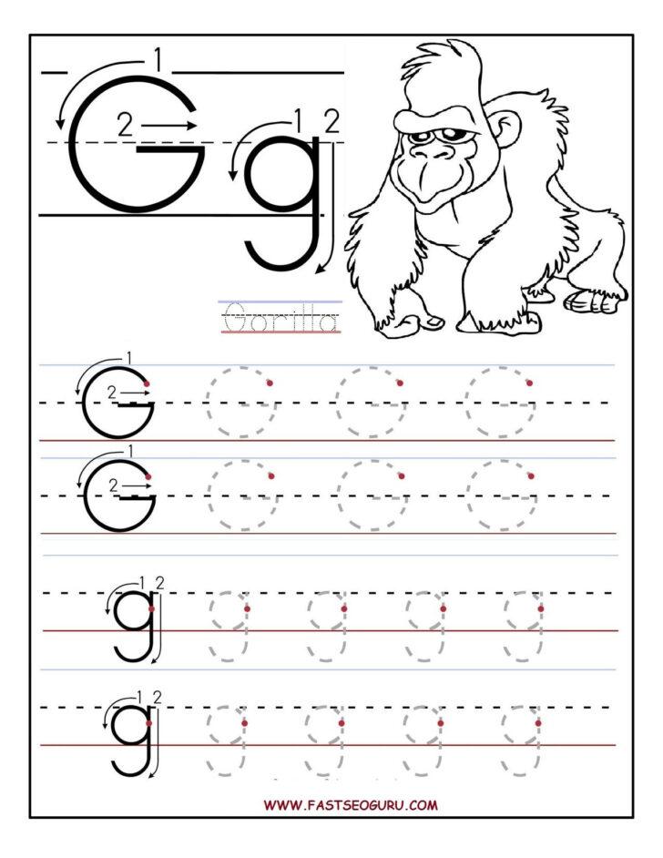 Alphabet G Worksheets
