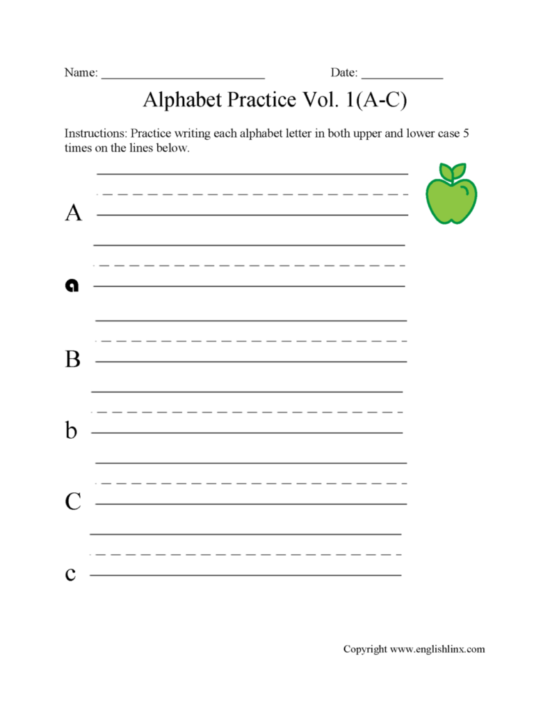 Worksheets : Practice Writingphabet Letters Worksheets Inside Alphabet Letters Worksheets Grade 1