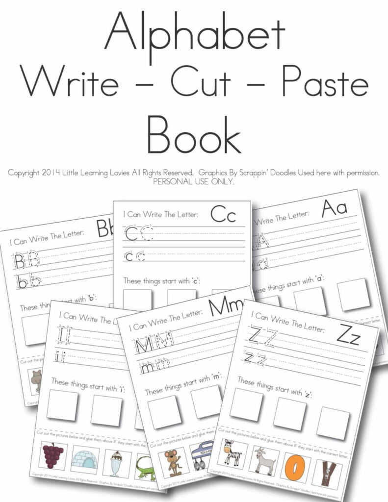 Write   Cut   Paste: Alphabet Set Within Alphabet Worksheets Cut And Paste