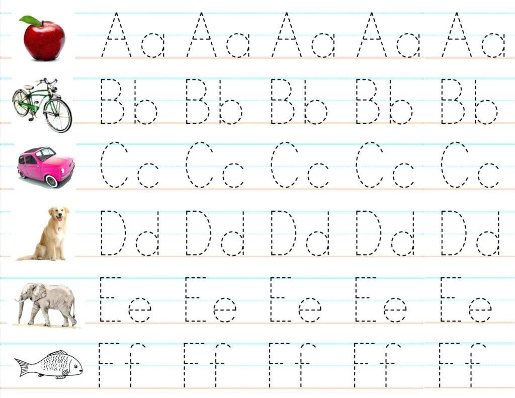 Write The Alphabet Worksheet – Pointeuniform.club Within Alphabet Writing Worksheets Pdf
