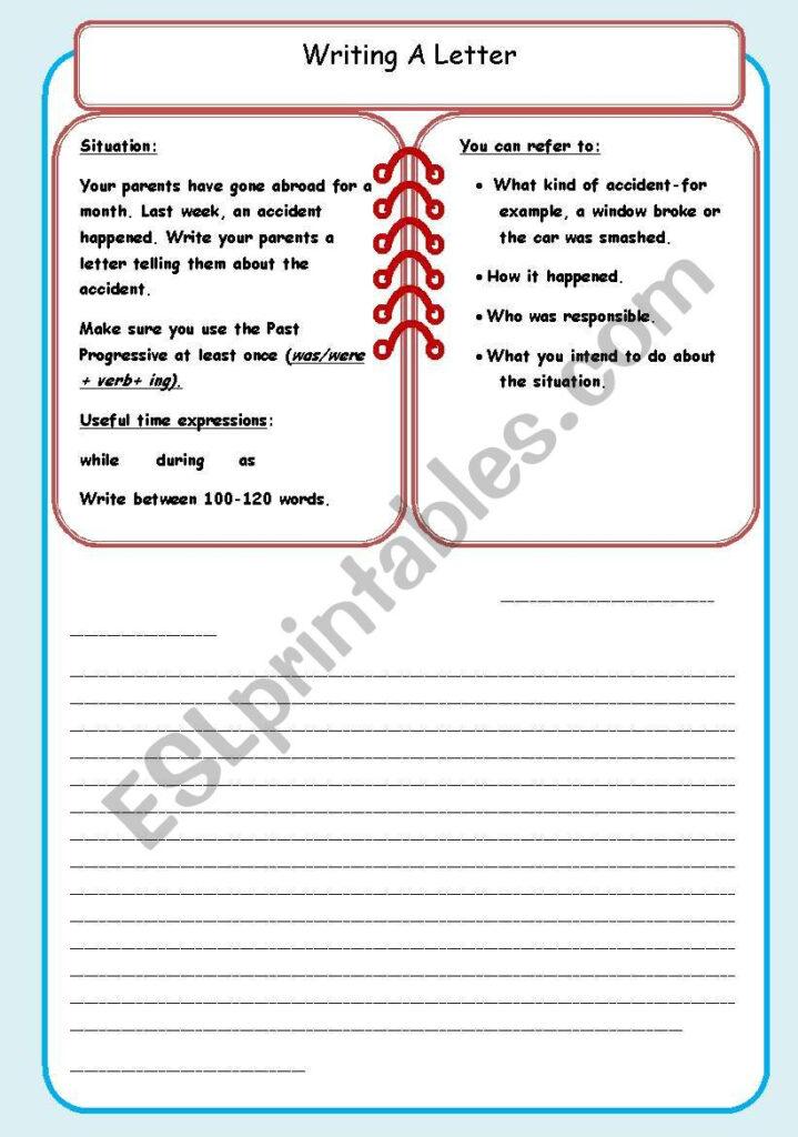 Writing An Informal Letter (2)   Esl Worksheetdebbiem Regarding Letter 2 Worksheets